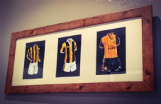 Hull City Original Kits Artwork sized 20'' x 8''
